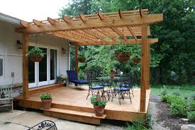 Patio Designs With Pergola by Simple Deck Designs Simple Process Backyard Lanscaping