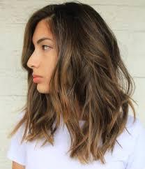 brown medium length medium length layered hairstyles for