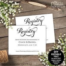 wedding registry in invitation registry card wedding registry wedding registry card gift