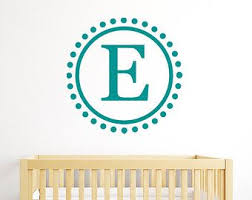 Wall Letter Decals For Nursery Circle Monogram Stickers Wall Letters Personalized Wall Decals