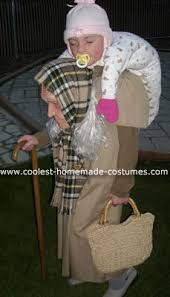 Baby Halloween Costume Lady Homemade Baby Granny U0027s Optical Illusion Costume