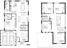 Two Storey Floor Plan The Rockwell 12 5m Double Storey Home Design Perth Wa Ben