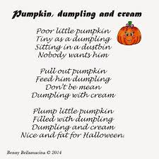 Poems For Halloween Piddly Poems Pumpkin Dumpling And Cream Taken From Piddly