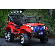 electric jeep for kids kids jeep style electric ride on 4wd car in red 24v buy ride on cars