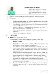 Qc Chemist Cover Letter Analytical Chemist Resume Virtren Com