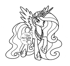 princess celestia my little pony coloring page for kids for