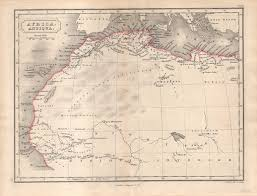 Ancient Map Of Africa by Map Of Ancient Africa C 1827 Hall U2013 Shaw Galleries