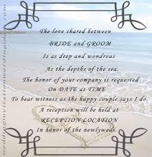Wedding Invitations Examples Amazing Wording For Beach Wedding Invitations Iloveprojection Com