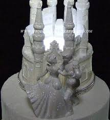 castle cake topper wedding fairytale dreams lighted cinderella castle cake topper