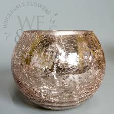 Silver Mercury Glass Vases Wholesale Mercury Glass Ball In Rose Gold 6