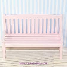 miniature diy shabby chic bench for dollhouse diorama lati