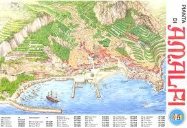 Map Of Positano Italy by Amalfi Map Amalfi It U2022 Mappery