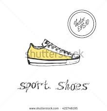 seamless pattern hand drawn sport shoes stock vector 417582019