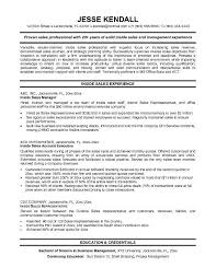 Sample Resume For Environmental Services by Best Solutions Of Inside Sales Sample Resume About Sample