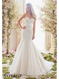 beaded wedding dresses mori 6835 pearl and beaded fit and flare wedding dress