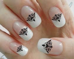 90 black lace damask nail art decals gothic tip manicure salon