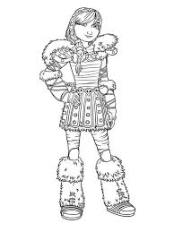 train dragon 2 coloring pages astrid coloringstar