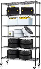 kitchen storage cupboard on wheels 6 tier storage shelves metal wire shelving unit height adjustable nsf heavy duty garage shelving with wheels 48 x18 x82 commercial grade utility