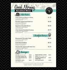 restaurant breakfast menu design template layout stock vector