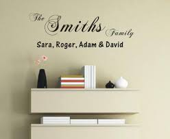 35 family name wall art family name wall art vinyl wall decals personalised family names wall art quote wall stickers wall decals