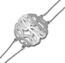 sterling silver monogram bracelet silver monogram bracelet carolina clover