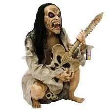 Real Looking Halloween Masks Halloween Haunters Zombie Guitar Base Player Musician Rock Band