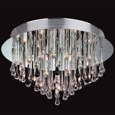 Glass Droplet Chandelier Flush Ceiling Lights Crystal And Glass From Easy Lighting