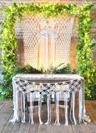 Macrame Home Decor by A Macrame Wedding Backdrop Is The Best Way To Reuse Decor