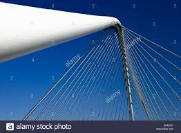 bowstring arch bridge modern futuristic design steel construction