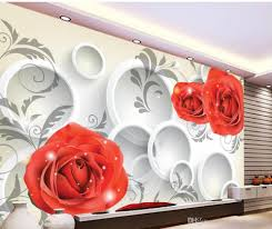 custom any size 3d roses background wall circle mural 3d wallpaper 52
