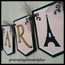parisian happy birthday banner paris name banner w tulle it u0027s a