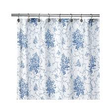 Shower Curtains Bed Bath And Beyond Laura Ashley Sophia Blue Fabric Shower Curtain Bed Bath U0026 Beyond