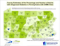 Pennsylvania State Map Diabetes
