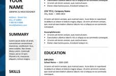 simple decoration resume templates samples homely ideas choose