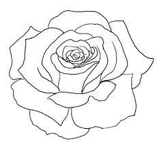 0b1cc49c367c2d7e1aac56684b301445 flower outline tattoo rose