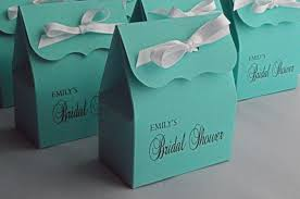 blue gift bags bridal shower favor bags in blue with white ribbon