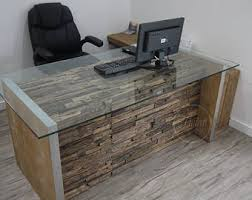 Glass Office Furniture Desk Office Furniture Etsy