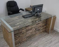 Glass Office Desk Office Desk Etsy