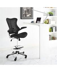 Black Reception Desk Huge Deal On Modway Charge Drafting Chair In Black Reception