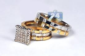 wedding ring sets his and hers his hers wedding rings sets blushingblonde