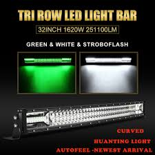 green light for hog hunting curved 32 inch 1620w led light bar combo offroad green hog hunting