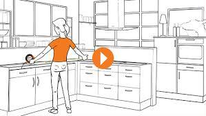 küche einbauen arbeitsplatte einbauen erklärvideo obi