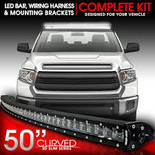 2014 tundra led light bar led light bar curved 288w 50 inches bracket wiring harness kit for