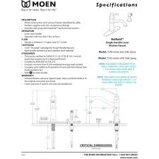 Moen Single Lever Kitchen Faucet by Moen 7245srs Belfield Spot Resist Stainless One Handle With