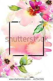 handmade watercolor cards watercolor flowers peonies handmade greeting cards stock vector