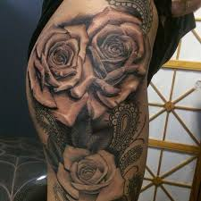 tattoo pictures of roses 40 hot rose thigh tattoo design ideas