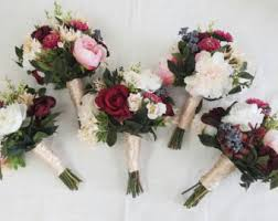 silk flower bouquets wedding bouquets etsy