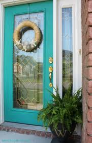 painting your front door the easy way the diy village color me turquoise sisal front doors and kerb appeal