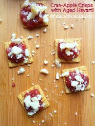 Quick Halloween Appetizers by Appetizer Crisps With Cran Apple Chutney U0026 Aged Havarti Fun And