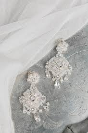 bridal chandelier earrings aster chandelier earrings edera couture lace bridal jewelry